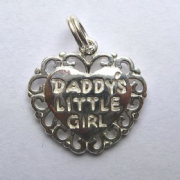 Sterling Silver Daddy's Little Girl Heart Pendant